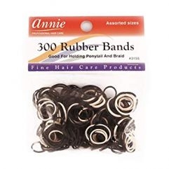 300 Rubber Bands, Black/White