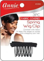 Spring Wig Clip with Mesh 3pk