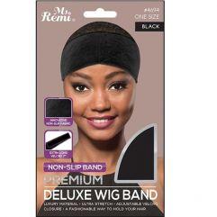 Premium Deluxe Wig Band Black