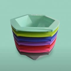Mixing Bowl Hexagon Assorted Colours