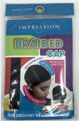 Braided Cap Side Parting (Black)