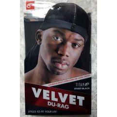 Velvet Du-Rag, Black