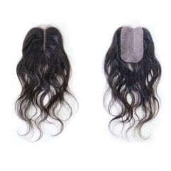 """Body Wave Closure 4x2 14"""" Hand Tied Parting"""