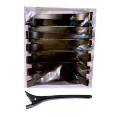 Duck Bill Clips 12pk plastic 11,5cm, Black