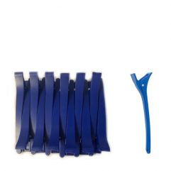 Duck Bill Clips 12pk plastic 11,5cm, Blue