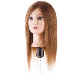 Training Head 40cm, Farge 6 - 100% human hair